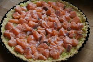 Tarta z łososiem