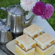 Ciasto serowo-brzoskwniowe