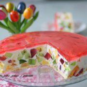 Sernik jogurtowy z galaretką - kryształek